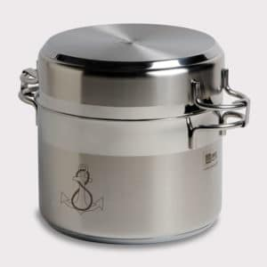 COOKING POTS STAINLESS STEEL SET: 6 COOKWARE + LIDS MB